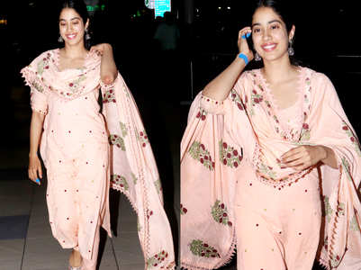 Janhvi Kapoor's peach kurta is giving us Ramadan feels