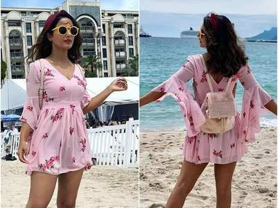 Cannes: Hina Khan is a head-turner in this floral dress