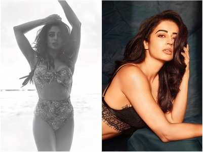 Nehha Pendse looks hot in floral bikini