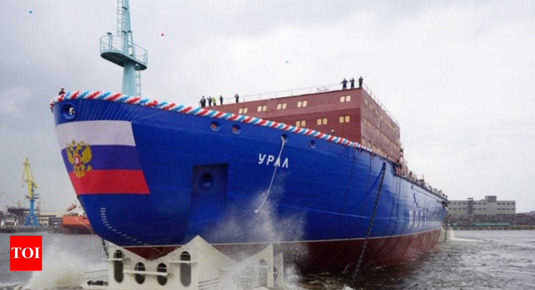 Russia launches world's largest nuclear-powered icebreaker