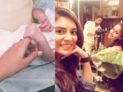 Pooja shares pic of Chhavi's baby boy