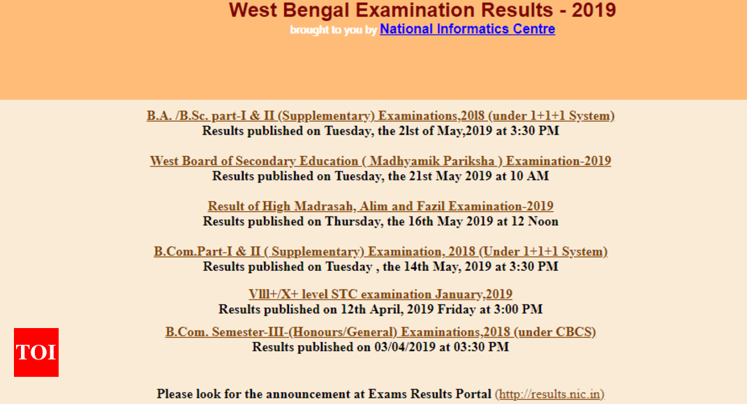 HS Result 2019 at wbresults nic in: West Bengal CHSE result