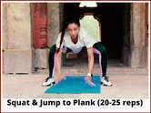 Squat and Jump to Plank