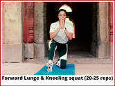 Forward Lunge and Kneeling squat