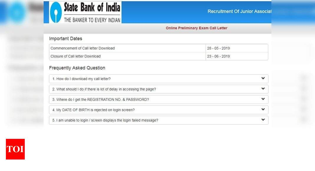 asso banks of sbi po 2014-15 admit card download