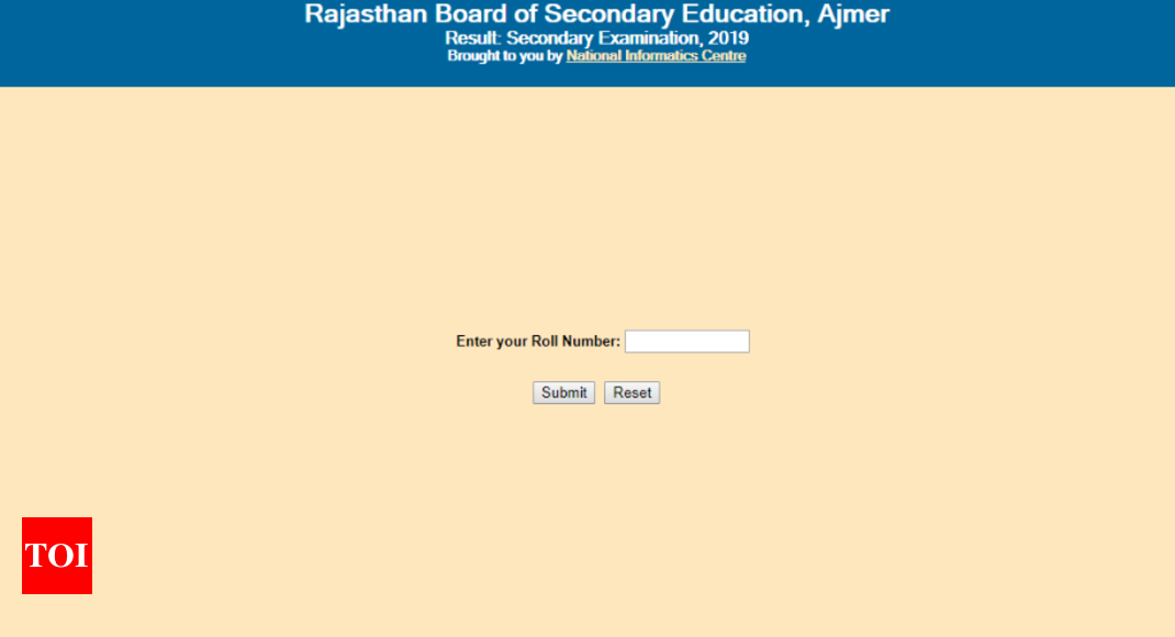 BSER RBSE 10th Results 2019 on rajresults nic in: Rajasthan Board
