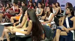 fbb Colors Femina Miss India contestants at fashion and style session with INIFD