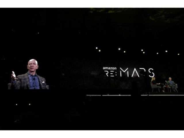 Indian-American activist jumps on stage, slams Amazon CEO Jeff Bezos