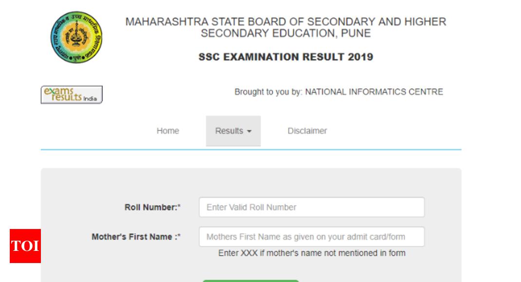 Maharashtra SSC Result 2019 @ mahresult nic in Check Updates