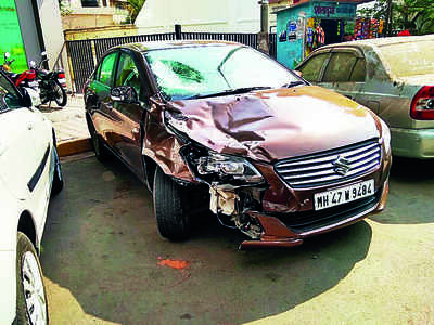 Hit by car, biker plunges to death from Bandra bridge