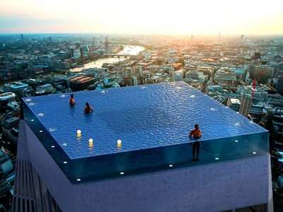 This 360-degree infinity pool is going to sit atop the London skyline