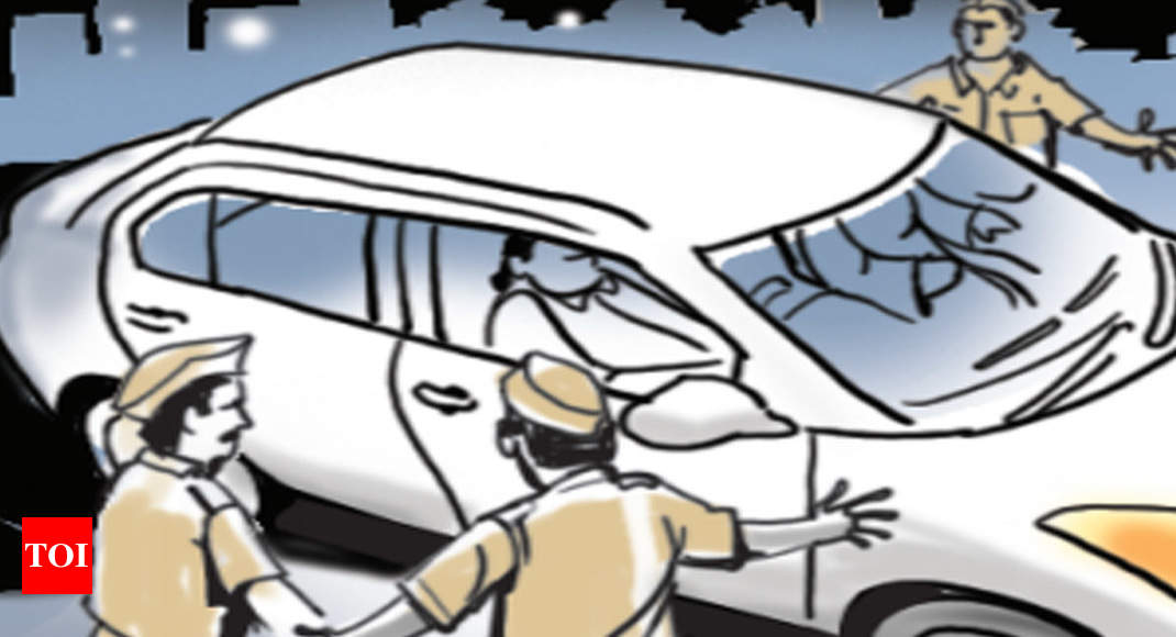 Ahd men caught drunk, car worth Rs 40L seized