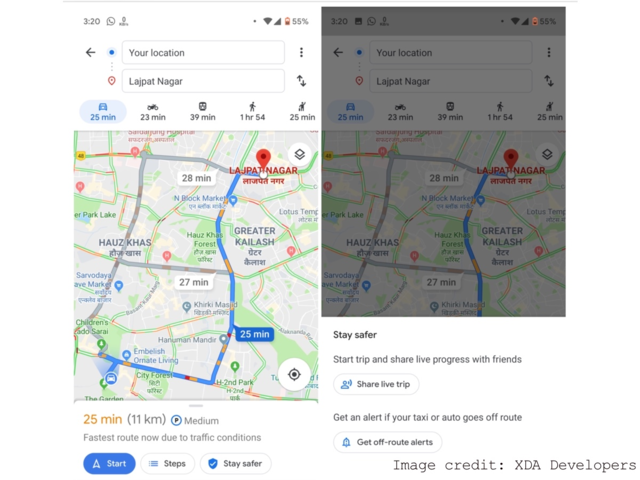 Google Maps will now alert you if your taxi goes off route