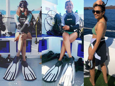 Radhika Apte tries her hand at  scuba diving