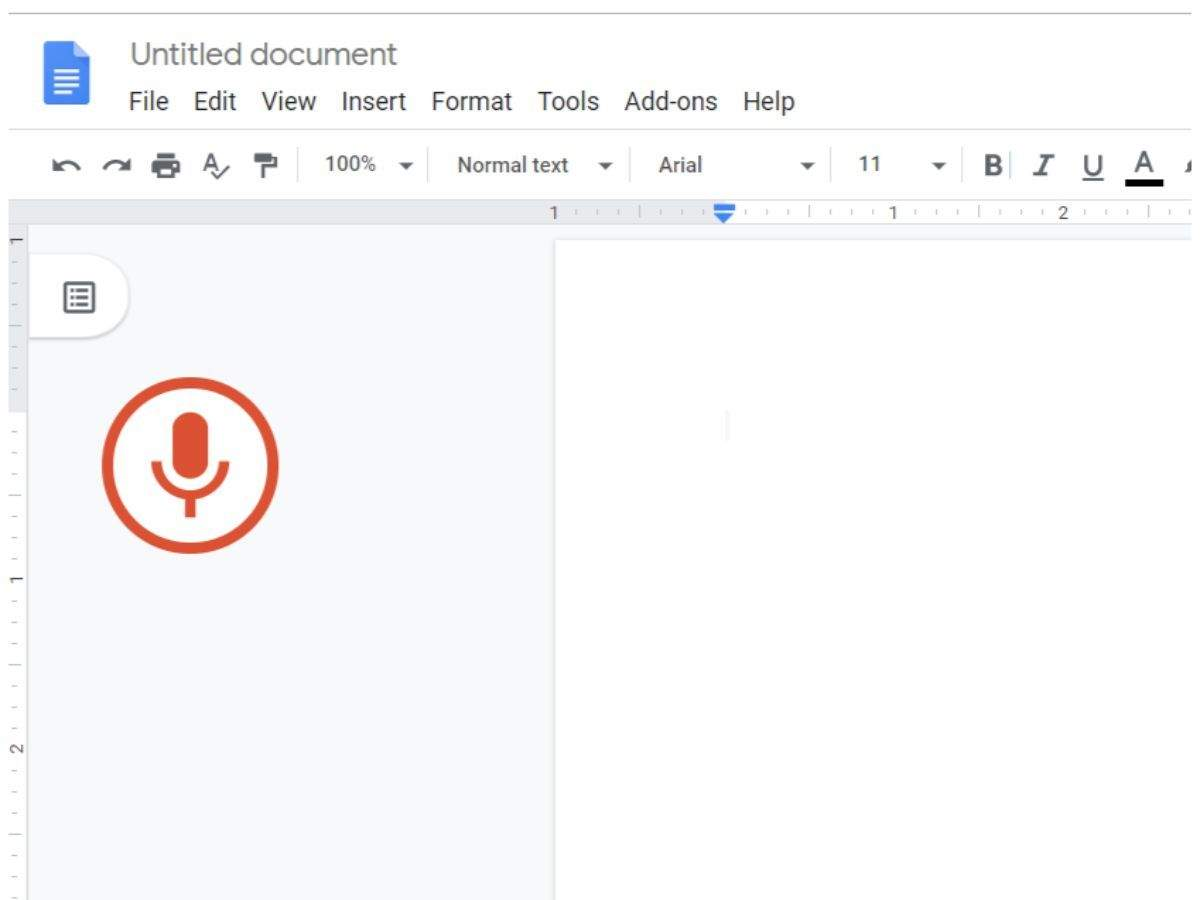 voice typing feature in Google Docs ...