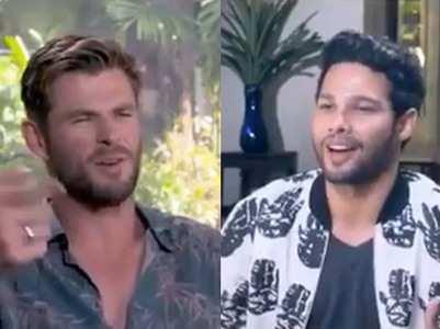 Video: Chris Hemsworth says 'Bohot Hard'