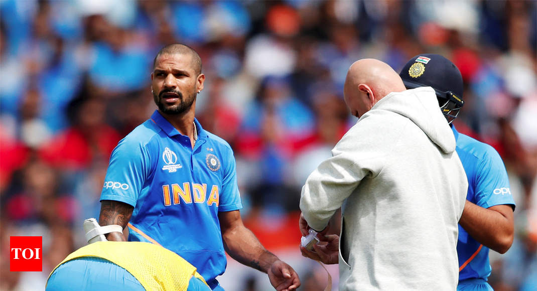 World Cup: Dhawan to remain under observation, Pant on stand by