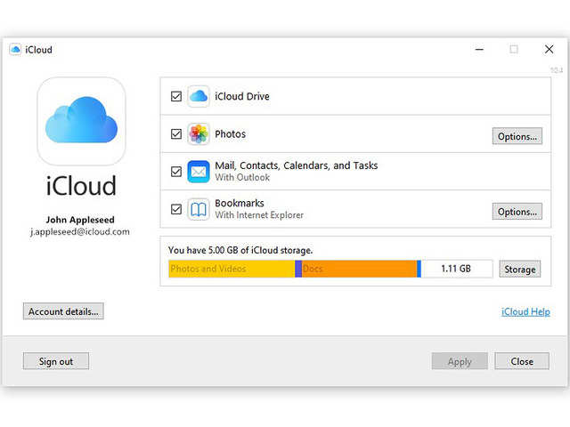 Apple's iCloud becomes available for Windows 10 users