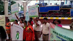Coimbatore railway had tied up with private firms and NGOs and had organised a events to mark the Environmental day