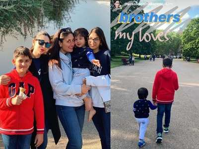 Pics: Kareena and Taimur's European vacation