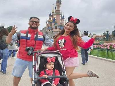 Dimpy celebrates kid's bday in Disneyland