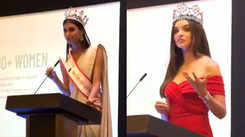Miss world 2018 Vanessa Ponce de Leon and Miss India world 2019 Suman Rao spread awareness on menstrual hygiene