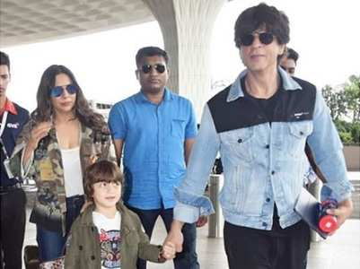 Pics: SRK heads to London with Gauri & AbRam