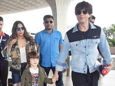 Pics: SRK heads to London with Gauri & AbRam