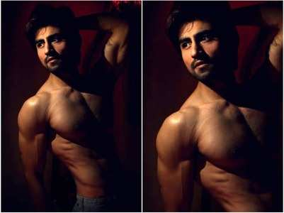 Harshad flaunts his perfectly toned body