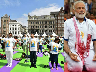 People from all around gear up to celebrate #InternationalYogaDay!