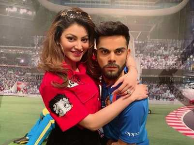 Urvashi trolled for photo with Virat's statue