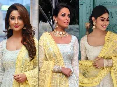 Anita, Adaa, Krishna sport similar outfit
