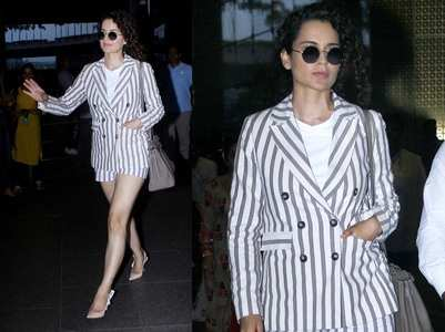 Kangana made heads turn at the airport