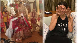 Sushmita Sen claps and cheers for brother Rajeev Sen on his wedding