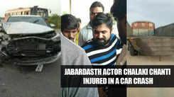 Jabardasth actor Chalaki Chanti injured in a car crash near Kodad