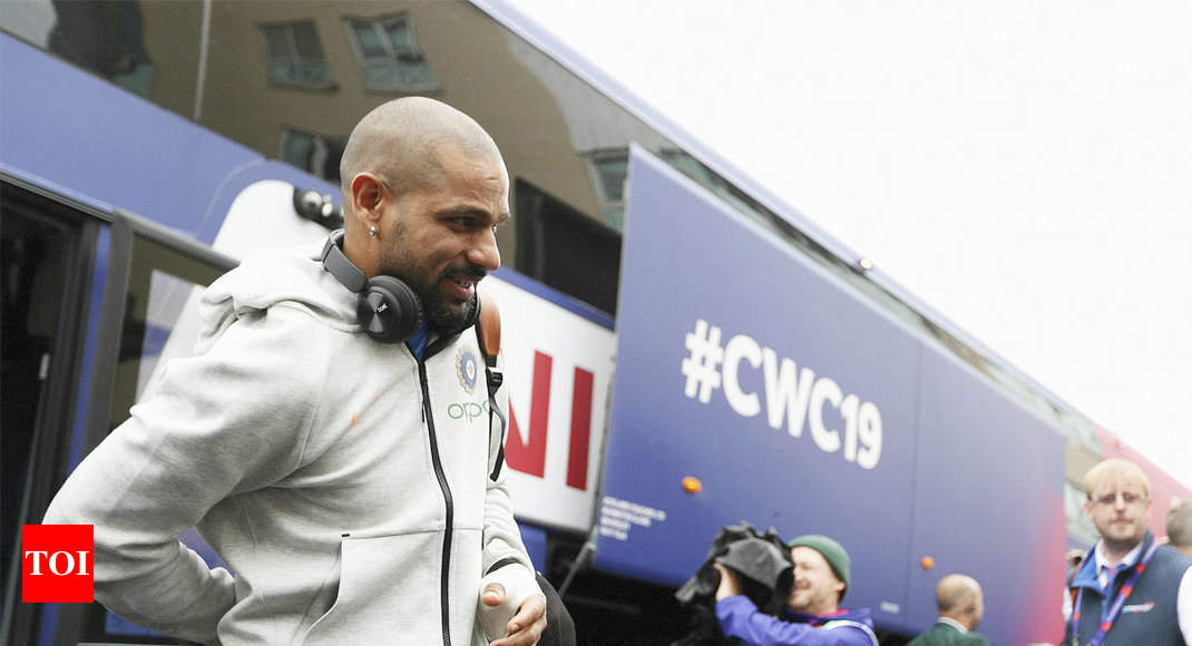 Shikhar Dhawan ruled out of World Cup with thumb fracture - Times of India