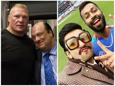 Ranveer gets warning from WWE champ Brock Lesnar