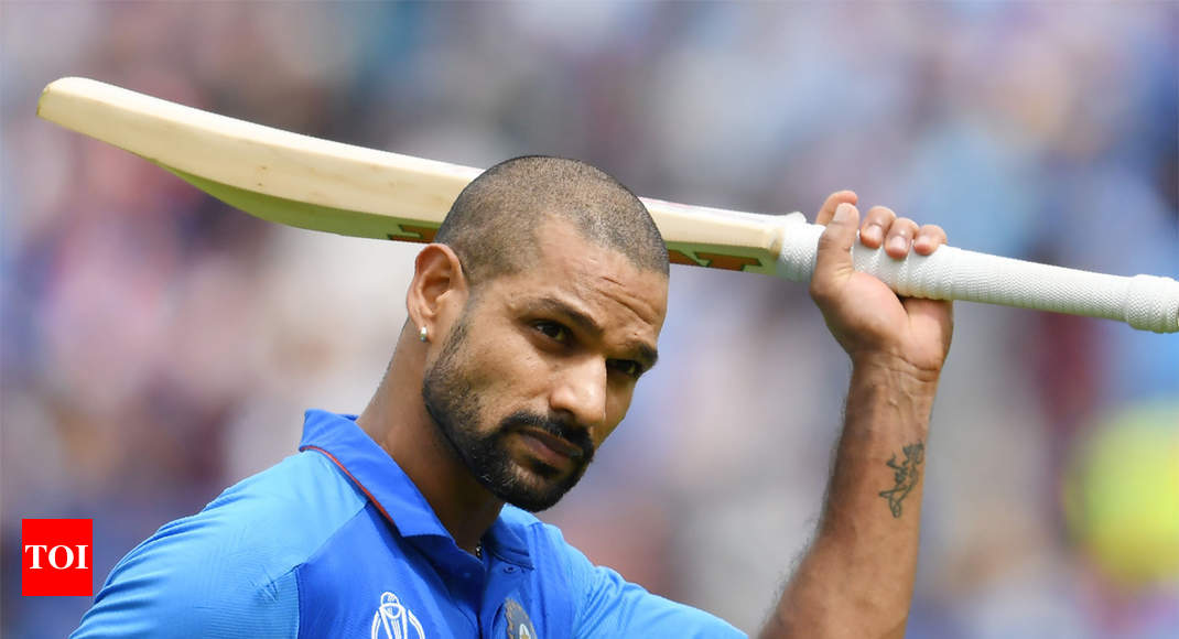 Shikhar Dhawan posts emotional message after being ruled out of World Cup - Times of India