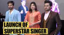 Alka Yagnik, Himesh Reshammiya, Javed Ali at the launch of Superstar Singer
