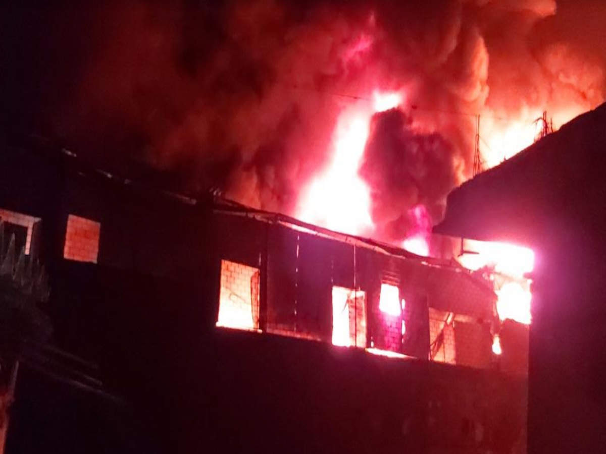 Fire in Vasai industrial estate, over 20 units gutted | Mumbai News - Times  of India