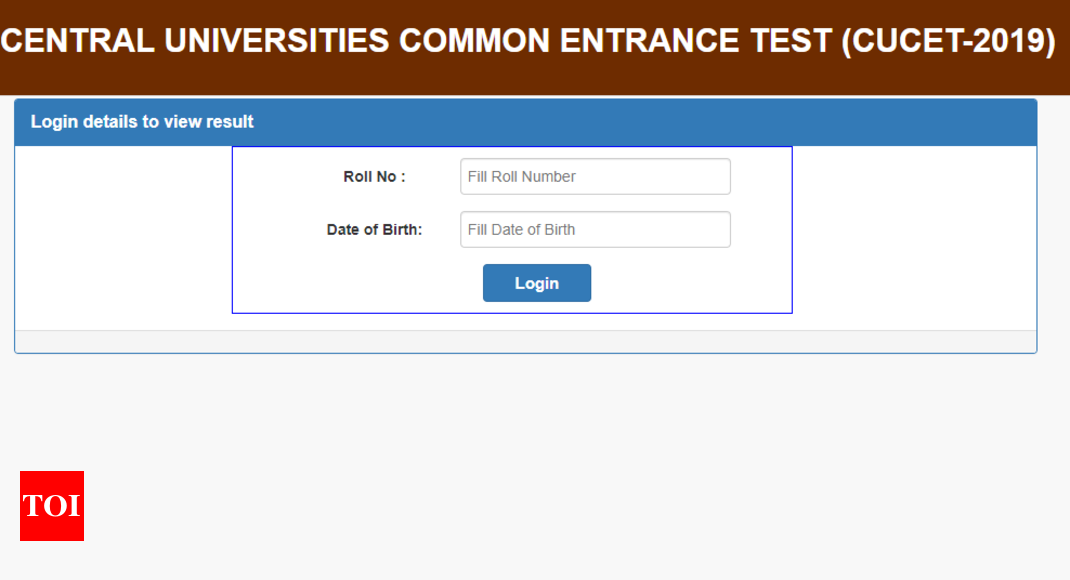 CUCET result 2019: CUCET 2019 result announced @cucetexam in
