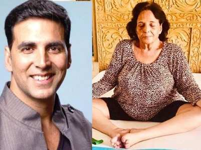 Akshay pens a post on his mother's Yoga journey