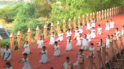 AMC organised yoga sessions at various heritage sites on International Yoga Day