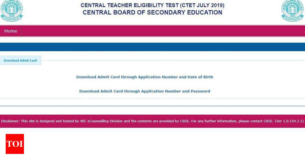 CBSE releases CTET admit card 2019 @ctet nic in