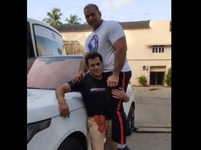 Watch: Salman lifts his not so little nephew