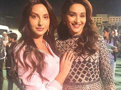 Nora shares a perfect moment with Madhuri