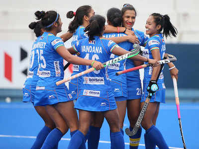 Indian women's hockey team secures place in Olympic qualifiers final round  | Hockey News - Times of India