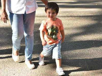 Taimur on the sets of 'Jawaani Jaaneman'