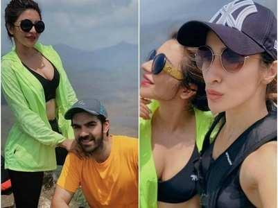 Shama, Rohan go trekking with Karan Grover