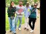 Kareena Kapoor Khan, Saif Ali Khan and Karisma Kapoor strike a pose with their designer friend